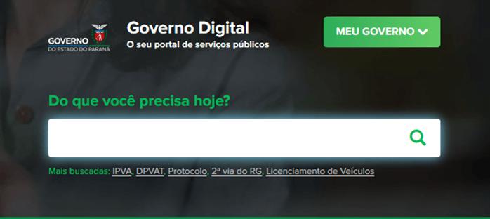 Acesso ao Portal do Governo Digital do Paraná