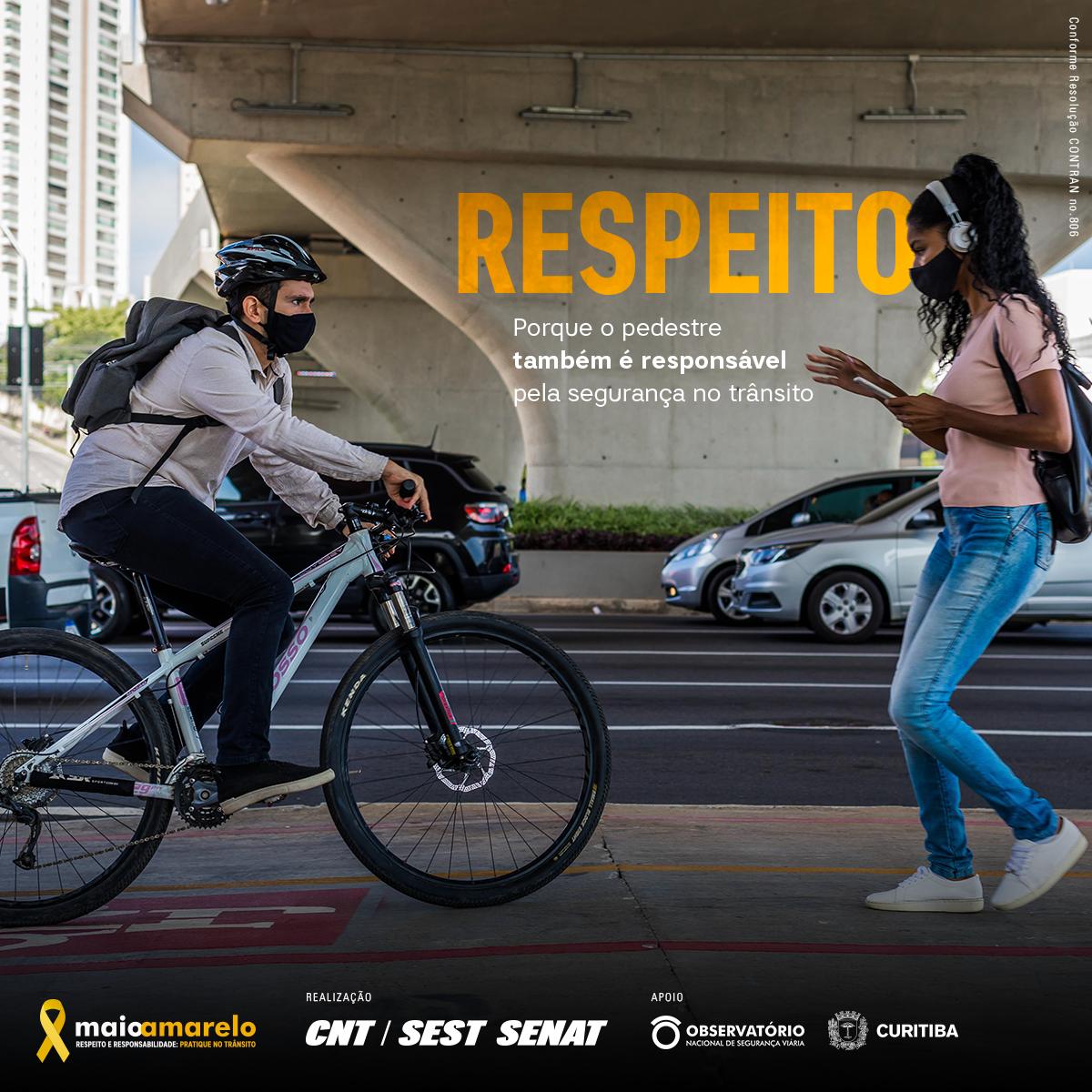 Respeito - Pedestre e Ciclista
